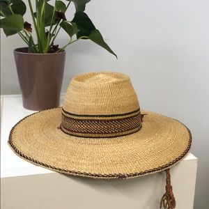 Vintage Straw Hat with Chin String